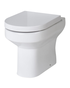 Nuie Harmony White Contemporary Back to Wall Pan - NCH606 NCH606