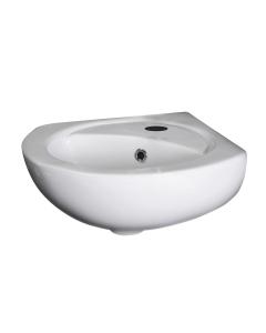 Nuie Wall Hung Basins White Contemporary Corner Basin - NCU862 NCU862