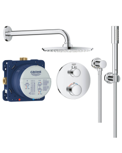 Grohe Grohtherm Perfect Shower Set With Rain Shower Cosmopolitan 210 - 34732000 34732000