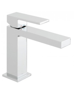 Vado Notion Slimline Mono Basin Mixer Smooth Bodied Single Lever Deck Mounted Without Clic-Clac Waste - Not-200/Sb-C/P VADO1668