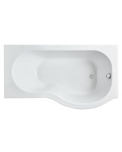 Nuie Shower Baths White Contemporary 1500 x 850 P Shape Bath Right Hand - WBP1585R WBP1585R