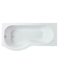 Nuie Shower Baths White Contemporary 1600 x 850 P Shape Bath Left Hand - WBP1685L WBP1685L