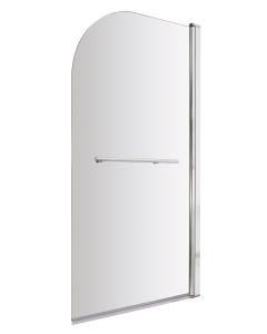 Nuie Bath Screens Polished Chrome Contemporary Straight Screen With Rail - NSSR1 NSSR1