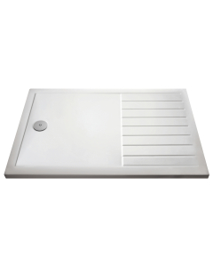 Nuie Shower Trays White Contemporary Rectangular Walk-In Tray 1600 x 800 - NTP1680 NTP1680