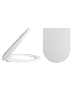 Nuie White Contemporary Luxury D Shaped Toilet Seat - NTS007 NTS007