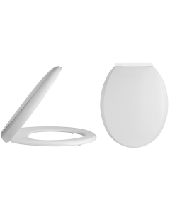 Nuie White Contemporary Standard Soft Close Toilet Seat - NTS008 NTS008