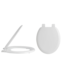 Nuie White Traditional Toilet Seat Plastic Hinges - NTS303 NTS303