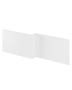 Nuie Bath Panels White Contemporary Shower Front Panel (1700mm) - WBS300 WBS300