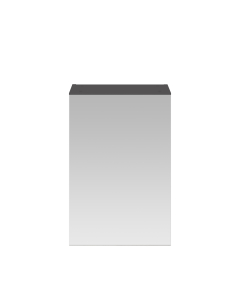 Nuie Athena Gloss Grey Contemporary 450mm Mirror Cabinet - OFF916 OFF916