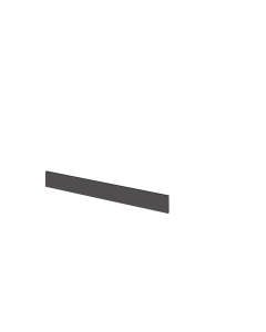 Hudson Reed Fusion Grey Gloss 1250 Plinth - OFF991 OFF991