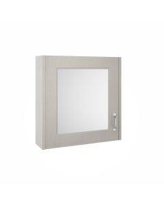 Nuie York Stone Grey Traditional 600mm Mirror Cabinet - OLF213 OLF213