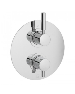 Vado Origins 1 Outlet 2 Handle Concealed Thermostatic Shower Valve Wall Mounted - Ori-148D-C/P VADO1602