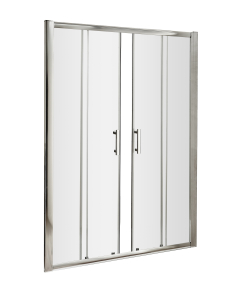 Nuie Pacific Double Sliding Door Polished Chrome Contemporary 1500mm - AQSLD15 AQSLD15