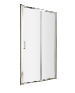 Nuie Pacific Sliding Door Polished Chrome Contemporary 1100mm Single - AQSL11 AQSL11