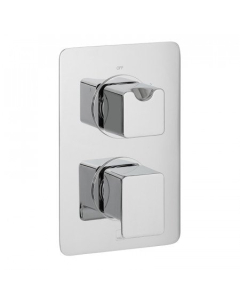 Vado Phase 2 Outlet 2 Handle Thermostatic Shower Valve Wall Mounted - Pha-148D/2-C/P VADO1621