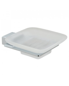 Vado Phase Frosted Glass Soap Dish And Holder Wall Mounted - Pha-182-C/P VADO1121