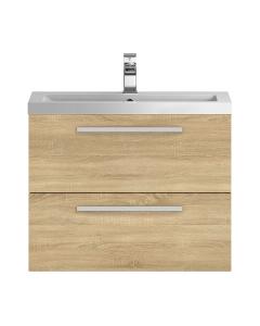 Hudson Reed Quartet Natural Oak 720 Cabinet & Basin - QUA008 QUA008