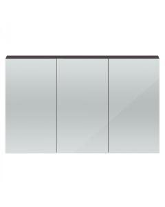 Hudson Reed Quartet Grey Gloss 1350 Mirror Cabinet - QUA010 QUA010