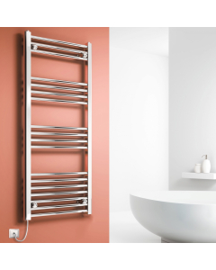 TNS Reina Capo Straight Electric Heated Towel Rail 1600mm High x 600mm Wide Chromne - CPS1660CS CPS1660CS