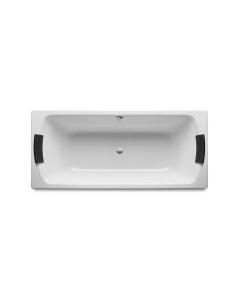 Roca Lun Plus Steel Bath with Anti-slip Base 1800mm x 800mm - 0 Tap Hole - 2212E0000 RO10663