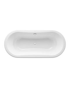Roca Duo Plus Freestanding Oval Steel Bath 1800mm x 800mm 0 Tap Hole - 222585000 RO10485