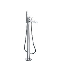 Roca L90 Floor Standing Bath Shower Mixer with Automatic Diverter In Chrome - 5A2701C00 RO10573