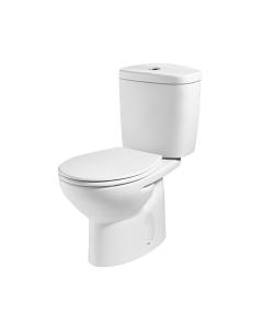 Roca Laura Close Coupled Toilet, Push Button Cistern, Soft Close Seat, White RO10187