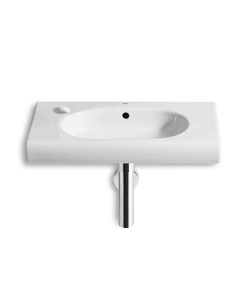 Roca Meridian-N Compact Wall Hung Basin, 550mm Wide, 1 LH Tap Hole - 32724Z000 RO10111