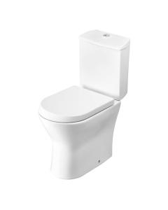 Roca Nexo Closed Coupled Toilet WC Push Button Cistern Soft Close Seat RO10283
