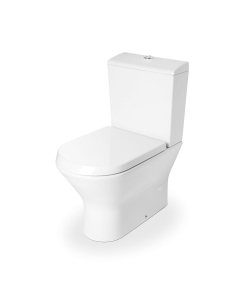 Roca Nexo Compact Closed Coupled Toilet WC Push Button Cistern - Soft Close Seat RO10285