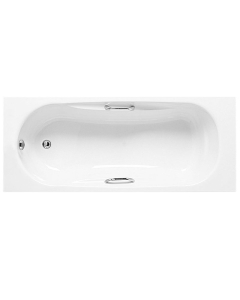 Roca Sureste Single Ended Acrylic Bath with Feet and Grips 1700mm x 700mm - 2 Tap Hole - 24735000 RO10462