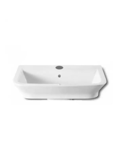 Roca The Gap Wall Hung Basin, 600mm Wide, 1 Tap Hole - 327474000 RO10005