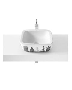 Roca Urban London Sit On Countertop Basin 400mm W - 0 Tap Hole - 32765L00U RO10307