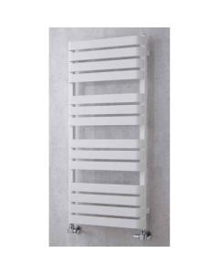 Supplies4Heat Milton Flat Panel Heated Towel Rail 1110mm Height x 500mm Width - White - MILT115014W MILT115014W