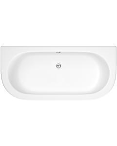 Nuie Shingle White Contemporary Back To Wall Bath & Panel (4mm) - BSG003 BSG003