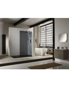Aquaglass 900mm Mono 10mm Smoked Walk-In Front Panel - BE800914 BE800914-SMOKED_BE10WR16