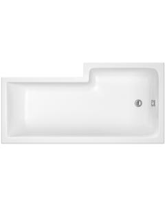 Nuie Shower Baths White Contemporary Left Hand Square Bath 1700mm - WBS1785L WBS1785L