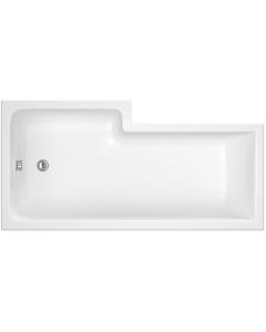 Nuie Shower Baths White Contemporary Square Bath Right Hand 1600X850 - WBS1685R WBS1685R