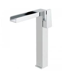 Vado Synergie Progressive Extended Mono Basin Mixer Single Lever Deck Mounted With Waterfall Spout - Syn-100E/Sb-C/P VADO1662