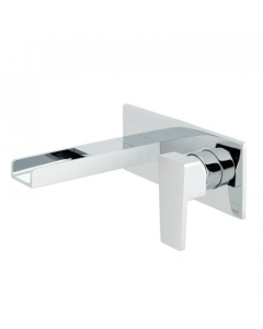 Vado Synergie 2 Hole Basin Mixer Single Lever Wall Mounted With Waterfall Spout - Syn-109S/A-C/P VADO1663