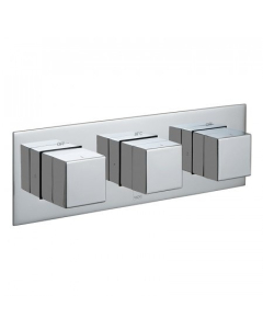 Vado Tablet Notion Vertical Concealed 2 Outlet, 3 Handle Thermostatic Shower Valve - Tab-128/2-Not-C/P VADO1611