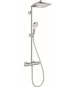 Hansgrohe Crometta Showerpipe 240 1jet EcoSmart 9 l/min with thermostatic shower mixer - 27281000 27281000