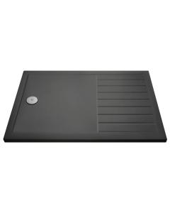 Nuie Shower Trays Slate Grey Contemporary Rectangular Walk-In Tray 1400 x 800 - TR711480 TR711480