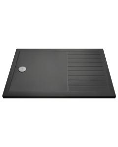 Nuie Shower Trays Slate Grey Contemporary Rectangular Walk-In Tray 1400 x 900 - TR711490 TR711490