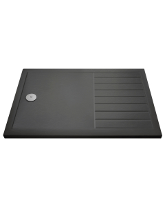 Nuie Shower Trays Slate Grey Contemporary Rectangular Walk-In Tray 1600 x 800 - TR711680 TR711680