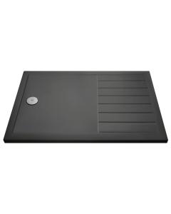 Nuie Shower Trays Slate Grey Contemporary Rectangular Walk-In Tray 1700 x 700 - TR711770 TR711770