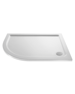 Nuie Shower Trays White Contemporary Offset Quad Tray 1000x900mm Left Hand - NTP110 NTP110