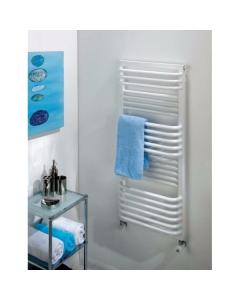 TRC Poll Heated Towel Rail 530mm H x 450mm W White POLL5345W
