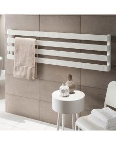 TRC BDO Step Heated Towel Rail 310mm H x 1800mm W -Black Chrome STEBDO3118BC