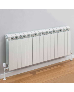 TRC Vox Radiator 440mm High x 1380mm Wide, 17 Sections, White VOX44W-17
